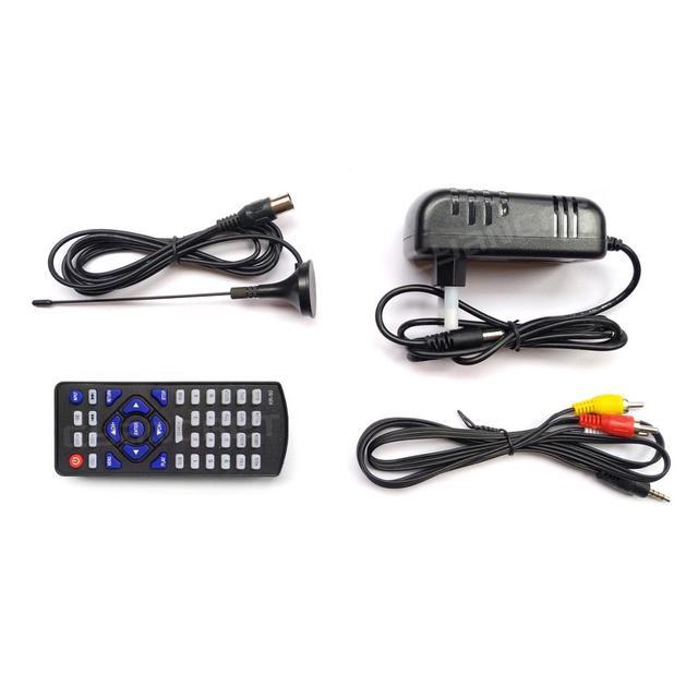 LEADSTAR D14 14 cal HD przenośny telewizor DVB-T2 ATSC cyfrowej telewizji analogowej Mini mały samochód telewizor z dostępem do kanałów wsparcie MP4 AC3 Monitor HDMI dla PS4