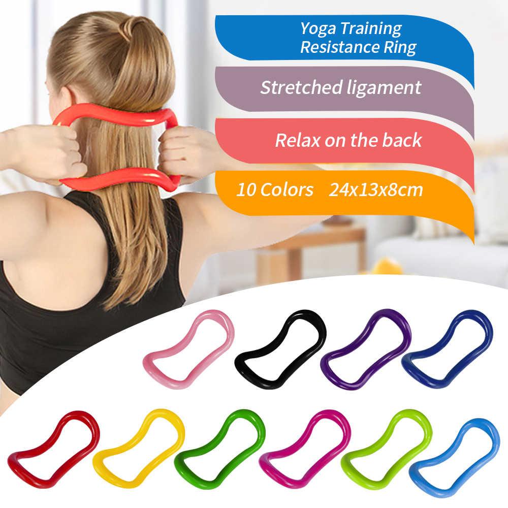 Yoga Circle Stretch Resistance Ring Pilates Bodybuilding Tool Fitness B5C0