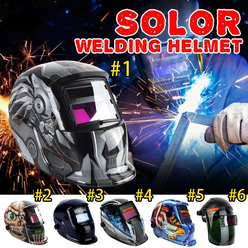 Solar Automatic Welding Helmet TIG MIG MMA MAG Electric Welding Mask/Helmets/Welder Cap Eyes Protective For Welding Machine