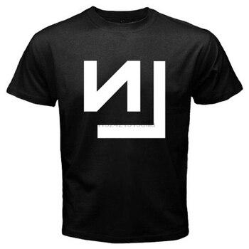 Nowy NIN dziewięć cali NAILS zespół rockowy Tour Logo mężczyźni biały czarny T-Shirt rozmiar S-2XL koszulki odzież marki śmieszne T Shirt koszulka
