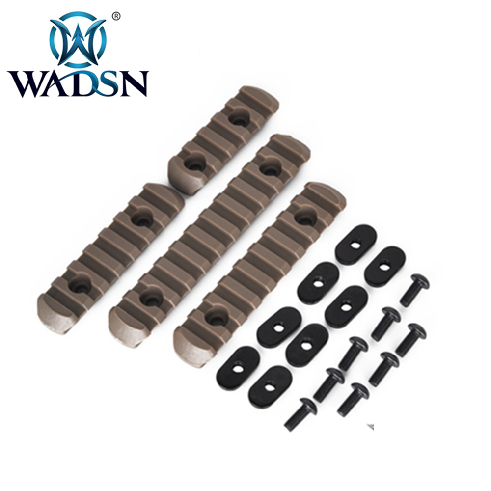 WADSN 4Pcs/Pack Tactical Genuine MP MOE Polymer Rail Sections Hunting Airsoft Handguard Protection Shooting Paintball Accessory