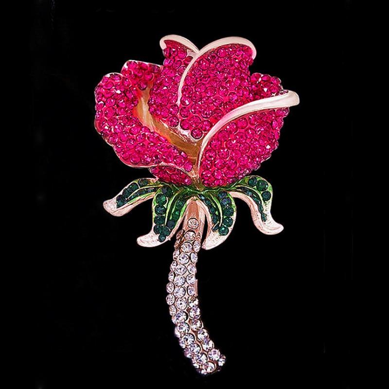 """Мода горный хрусталь брошь """"Роза"""" для женщин"""