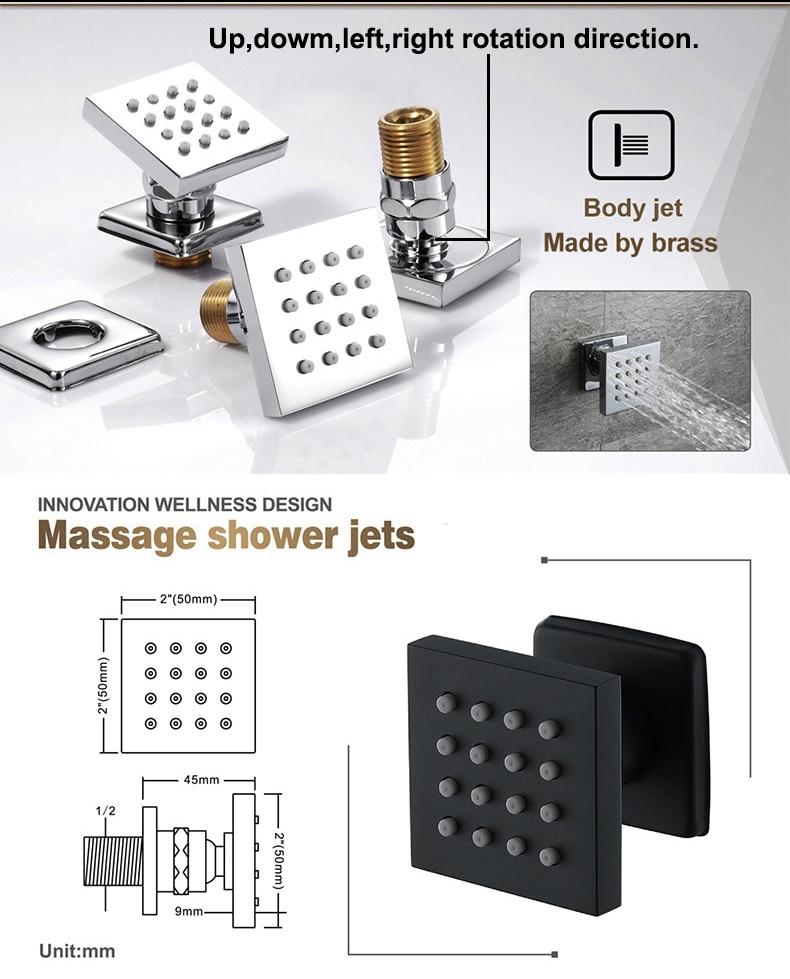 Hd5453878d6d846baae624b8932115f153 M Boenn Music Shower System Rain ShowerHeads LED Shower Set Bathroom Faucet Thermostatic Valve Matte Black/Chrome Bath Mixer Tap