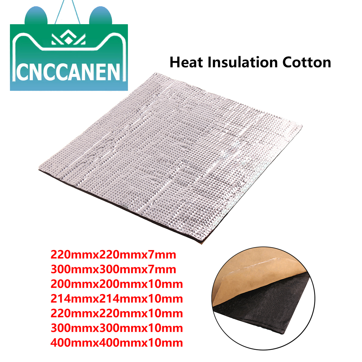 3D Printer Parts Heat Insulation Cotton 220/300/400MM Heatbed Sticker Foil Self-adhesive Insulation Cotton For Heated Bed Plate