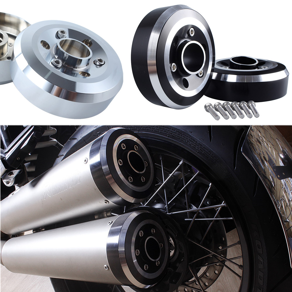 motorcycle exhaust tip tail cover frame for bmw r nine t 2014 15 16 2017 2018 2019 2020 2021 aluminum muffler end cap protector