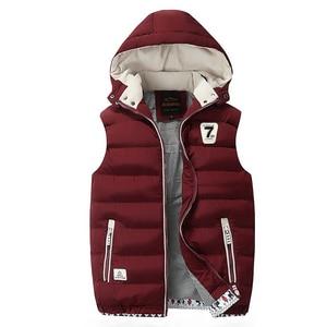 Image 5 - Hooded Men Winter 2020 Fleece Vest Male Thick Warm Waistcoat Cotton Casual Soft Vests Mens Windproof Sleeveless Jacket Parkas