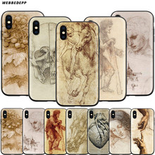 Webbedepp itália leonardo da vinci estojo para apple iphone 11 pro xs max xr x 8 7 6 s mais 5 5S se(China)