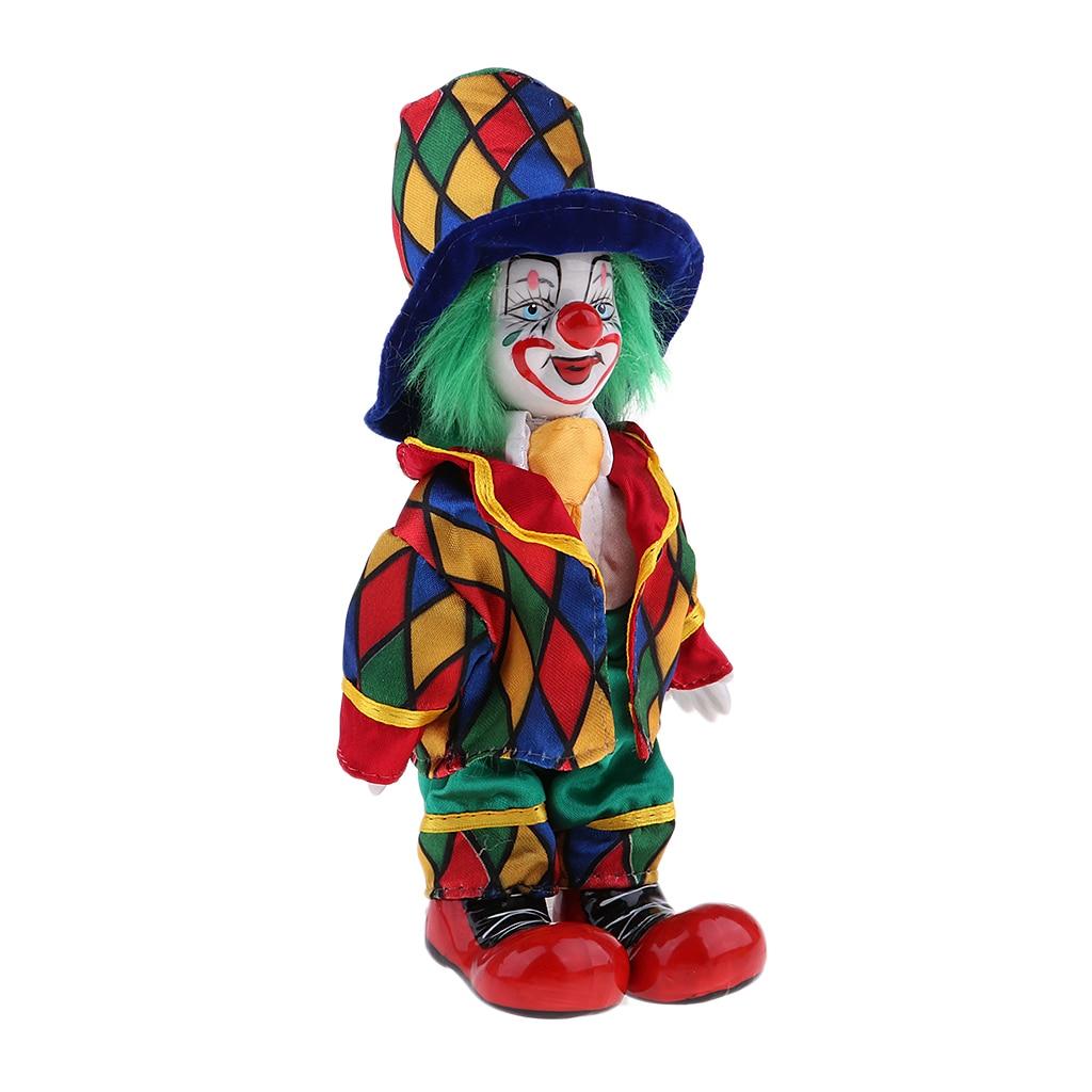 Vintage Tränen Clown Puppe Handarbeit Porzellan Puppe Kinder Weihnachten Geschenke