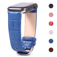 цена на band for apple watch 4/3/2/1 leather strap for 42mm 38mm Bracelet strap for iwatch series 40mm 44mm  21cm  Ribbon watch band