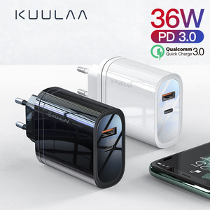 KUULAA 36W USB Charger Quick Charge 4.0 PD 3.0 Fast Charger US EU Plug Adapter Supercharger For iPhone 11 X XR XS 8 Xiaomi Mi 9(China)