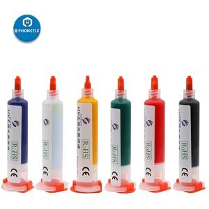 PHONEFIX 6 цветов УФ излечиваемая маска для припоя PCB краска сварочные флюсы масло с игольчатой головкой для защиты печатной платы телефона