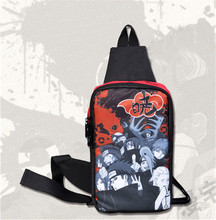 Anime Naruto Akatsuki Messenger Bag Borst Schouder Crossbody Zak Sport Wandelen Boekentas Student Satchel Rits Cross Body Bags(China)