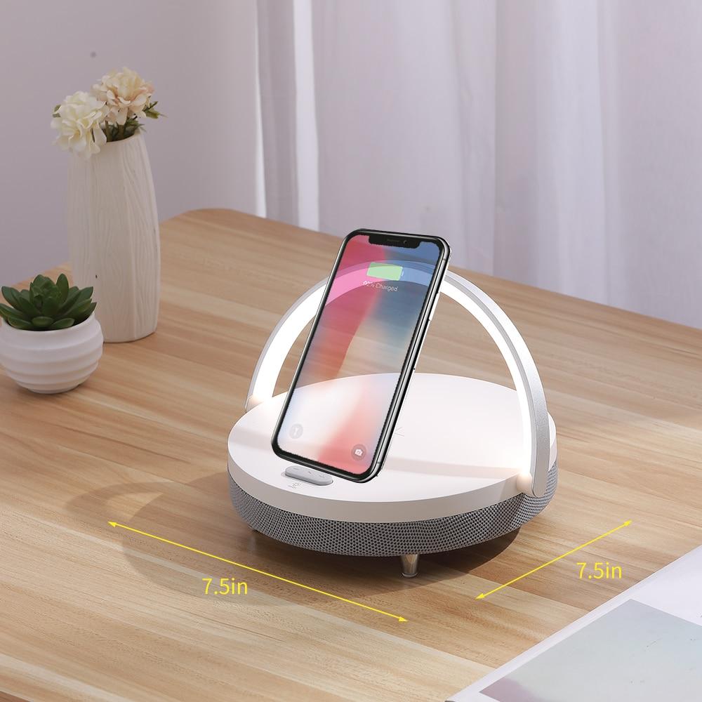 Wireless Charging Bluetooth Speaker Desk Lamp