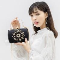 Bag Women's 2019 Diamond Set New Style Carrying Banquet Evening Bag Retro Evening Wear Formal Dress Handbag Single shoulder Cros