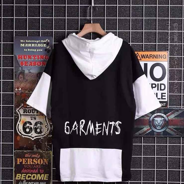 Japoński uczeń ulicy patchworkowa, w stylu harajuku bluzy z kapturem drukowany napis mężczyźni Oversize hip pop bluza z kapturem letnie bluzy z kapturem Plus rozmiar S-3XL
