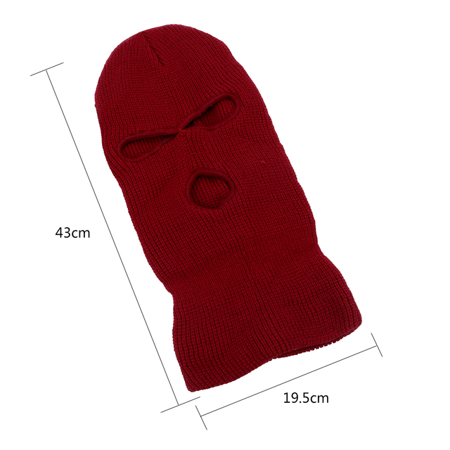 LEEPEE 3 Hole Balaclava Knit Hat Army Tactical Mask Winter Stretch Ski Full FaceMask Full Face Helmet 5