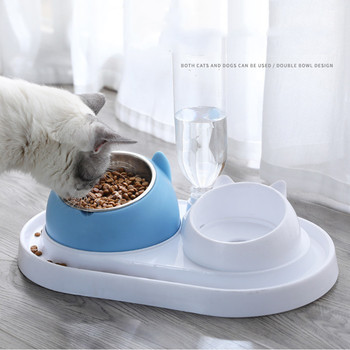 600ml Pet Dog Cat Automatic Feeder Bowl for Dogs Drinking Water Bottle Kitten Bowls Slow Food Feeding Container Supplies 1
