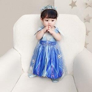Image 3 - New Movie Frozen 2  Anna Elsa Party Princess  girls party dress  little girls dresses  christmas dress for baby girls