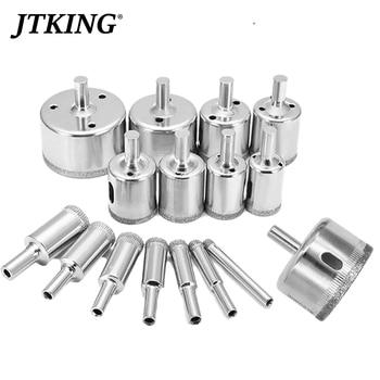 цена на 15PCS 6-50mm Diamond Drill Bit Plating Process Diamond Core Drill Bit  Glass Marble Ceramic Diamond Bit Drilling Tool