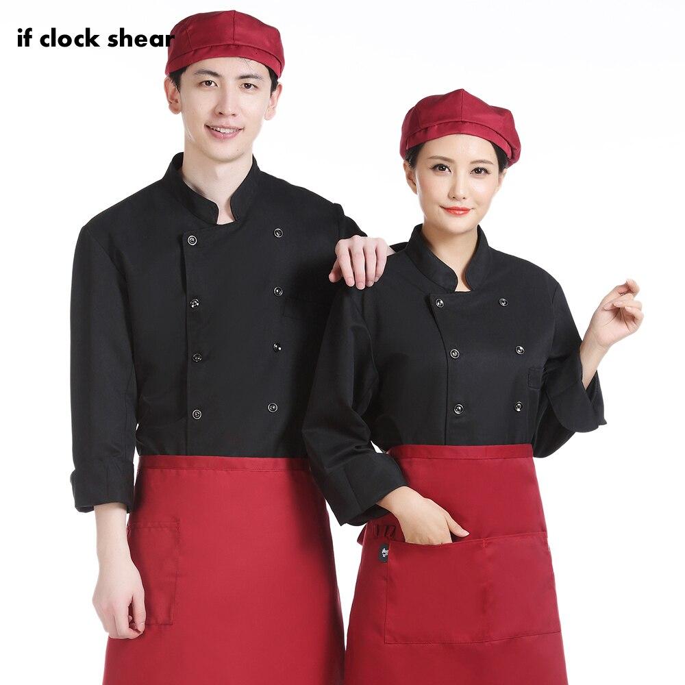 Wholesale Hotel Uniform Long Sleeve Waitress Breakfast Shop Work Clothes Casual Soft Kitchen Jacket Food Service Chef Uniform