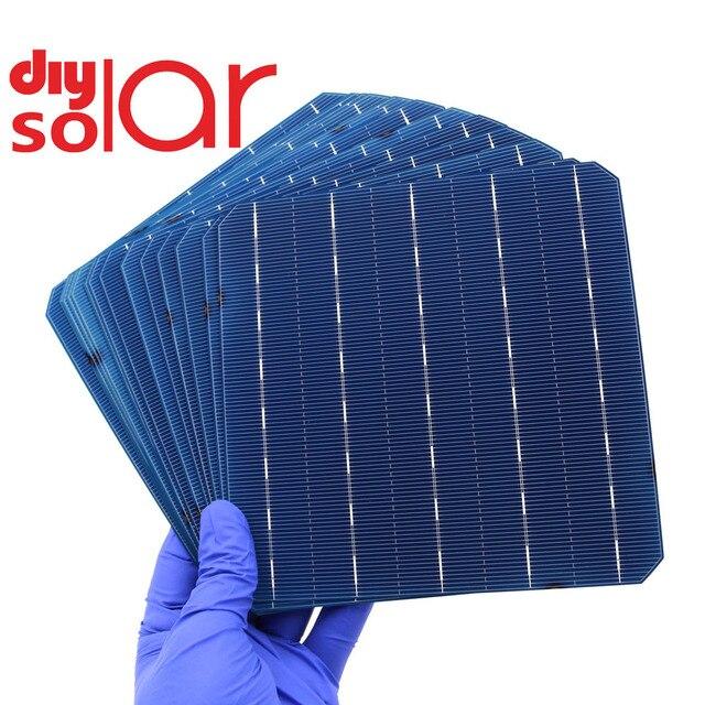 50 adet DIY Mono GÜNEŞ PANELI monokristal silikon esnek DIY güneş pili şarj pil çalışma led ışık araba RV eğitim