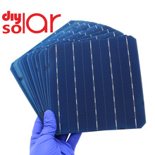 50 pcs DIY 모노 태양 전지 패널 Monocrystalline 실리콘 유연한 DIY 태양 전지 충전 배터리 연구 Led 라이트 자동차 RV 교육