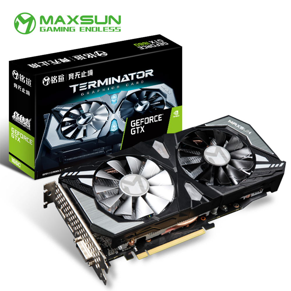 Maxsun GeForce GTX 1660 6G Graphic Card Nvidia GDDR5 GPU Gaming Video Card video For PC image