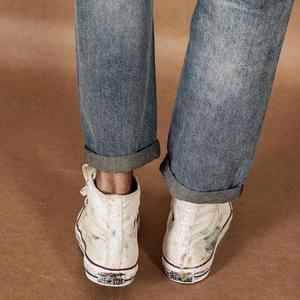 Image 5 - بنطلون جينز رجالي جديد سيومزاج موضة 2020 بطول الكاحل بنطلون جينز ممزق عتيق مغسول مقاس كبير من الجينز 190360