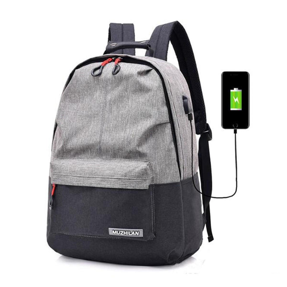 25L plein air USB Anti-vol sac à dos pour ordinateur portable voyage affaires sac d'école sac à dos COD