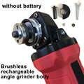 100mm 18 v sem escova sem fio impacto ângulo moedor ferramentas de moagem kit sem bateria apto para makita 18 v