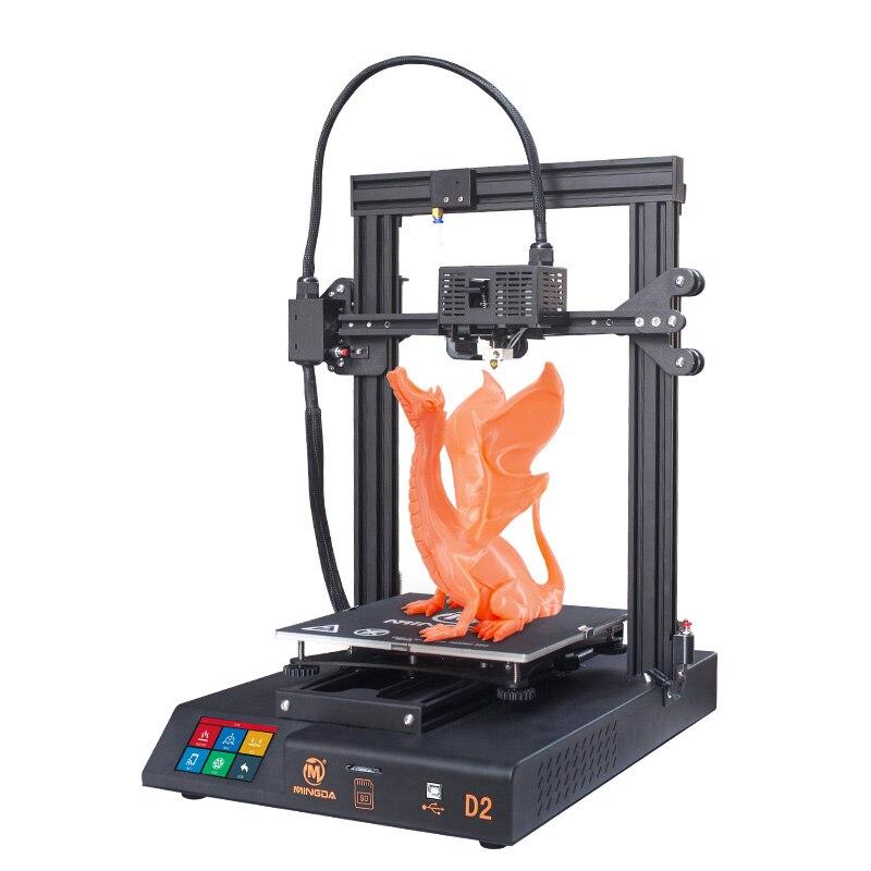 EU land freies verschiffen proximale extruder MINGDA D2 3D Drucker Bauen Größe 230*230*260mm DIY kit mit lebenslauf druck