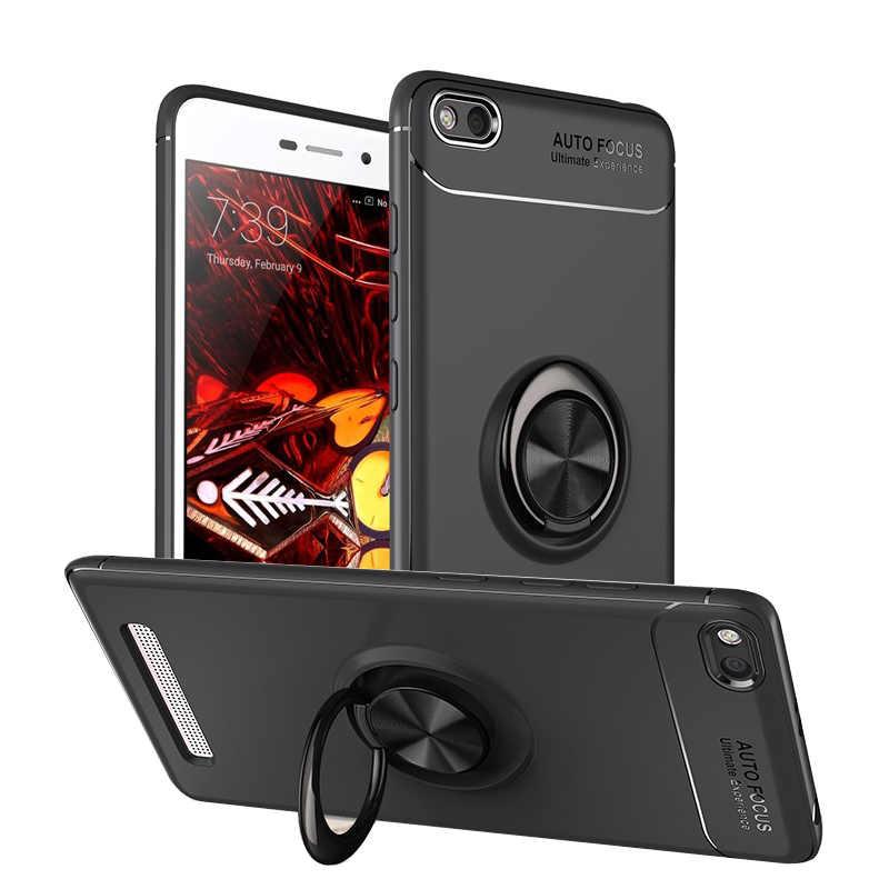Dla Xiaomi Redmi 5A przypadki pierścieniowa klamra uchwyt matowy miękkiego silikonu Back Cover obudowa do Xiaomi Redmi 5A przypadku telefonu Fundas Coque