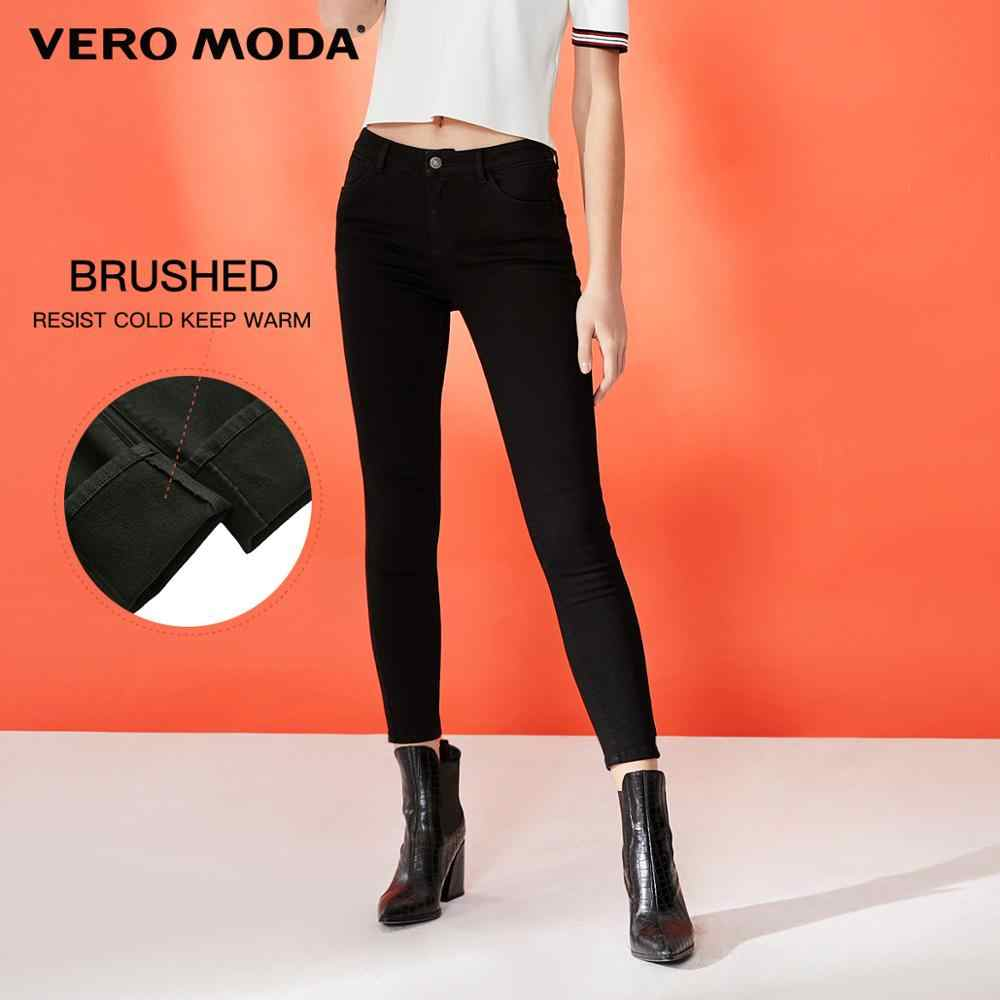 Vero Moda Women's Slim Fit Brushed Stretch Crop Jeans | 319349557
