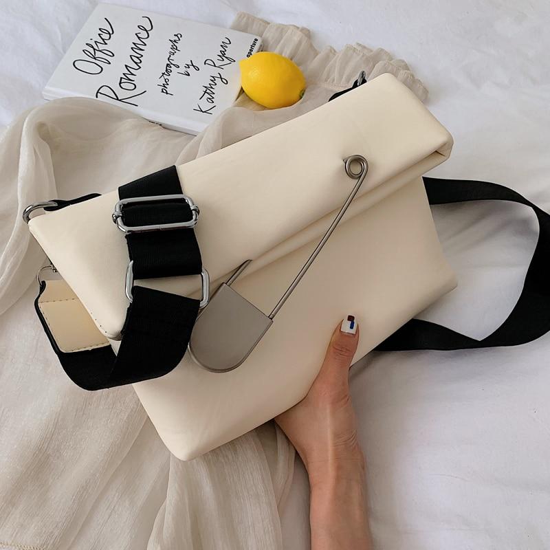 Elegant Female Casual Hand Bag 2019 Fashion New High Quality PU Leather Women's Designer Handbag Fold Shoulder Messenger Bag