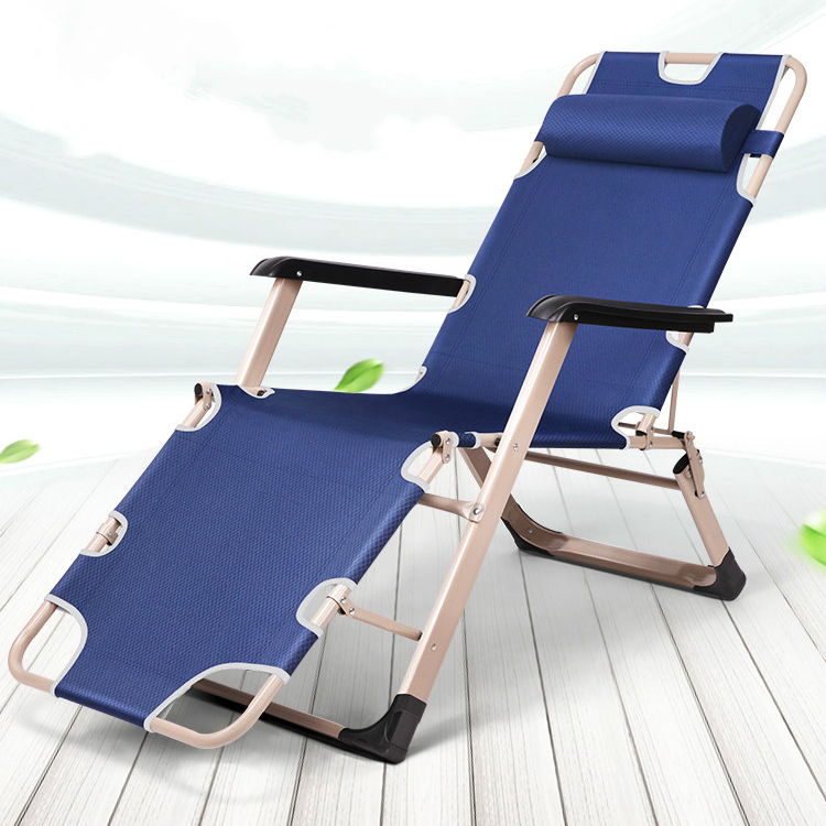 Both Sides Of The Tube Widened Recliner Folding Bed Single Bed Siesta Bed Office Nap Bed Sleeping Chair Camp Bed