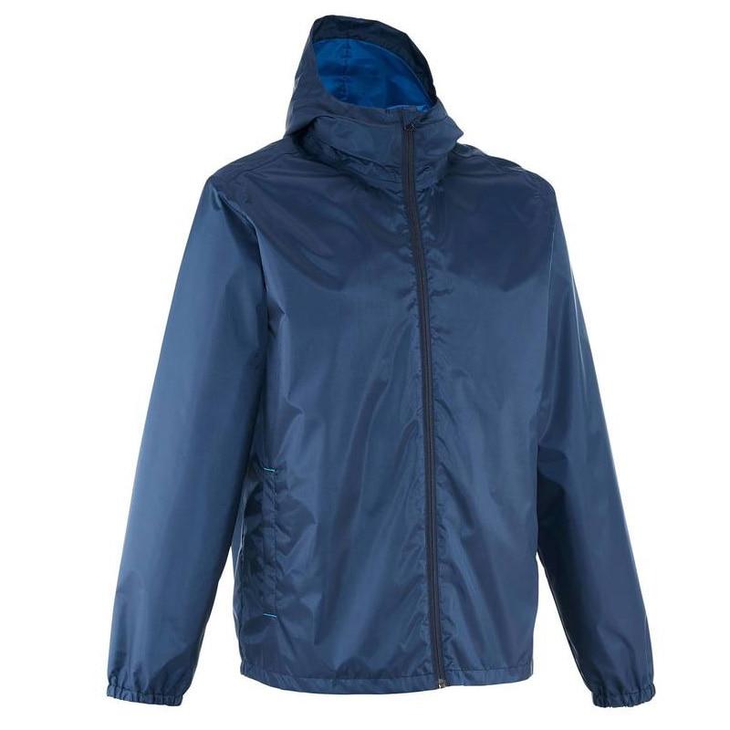 Men Waterproof Jacket Outdoor Hiking Riding Jackets Men Windproof Fleece Jacket Elastic Windbreaker Hooded Jacket DECATHLON