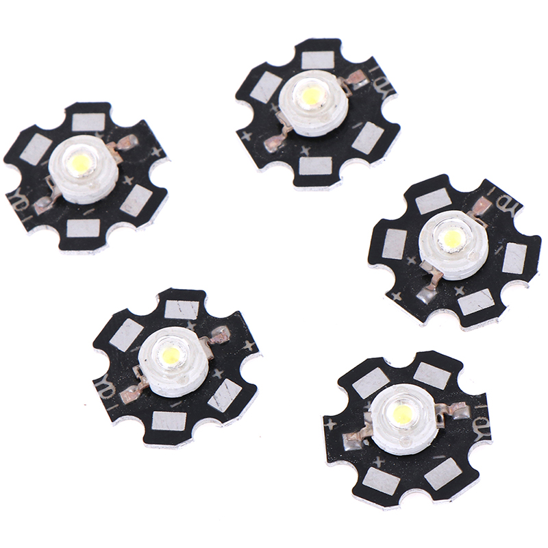 5Pcs 1/3W LED Heat Sink Aluminum Base Plate PCB Board Substrate 20mm LED Parts