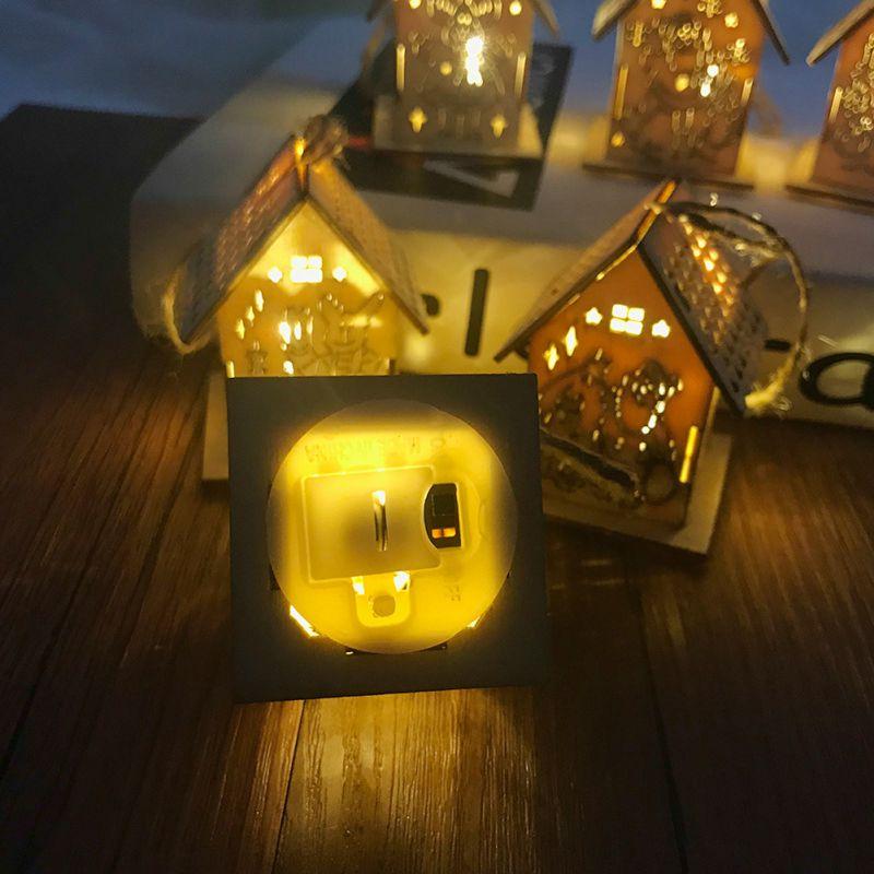 Светодиодный деревянный дом, украшение для семейного сада, рождественской вечеринки, свадьбы, праздника, вечеринки, елки