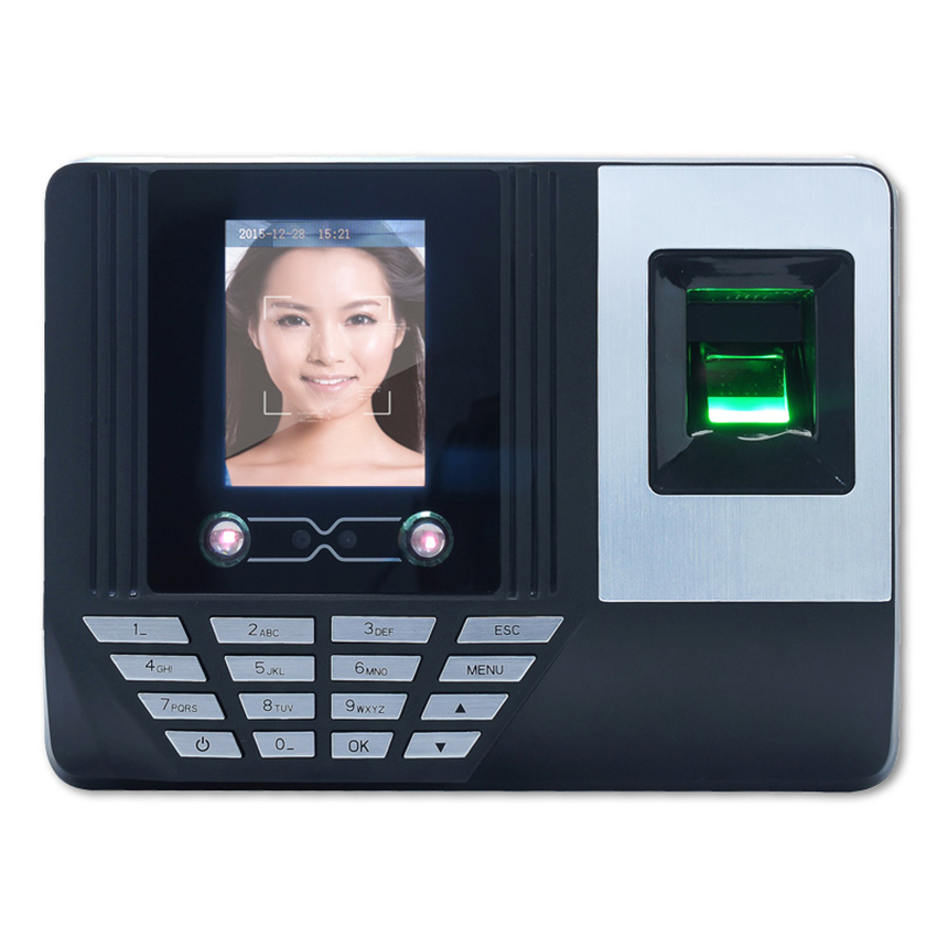 Biometric Face Fingerprint Time Attendance Time Clock Attendance Machine U Disc Recorder Employee Checking-in Recorder