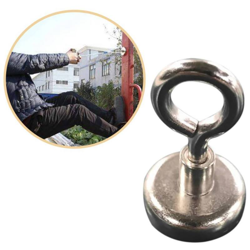 Strong Powerful Magnetic Hook Durable Salvage Magnets Pot Hunting Fishing Magnets Hook Magnet Detector Household Gadget