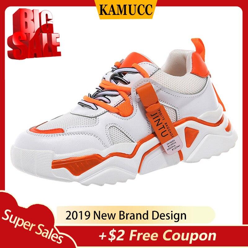 Women Shoes 2019 New Chunky Sneakers For Women Vulcanize Shoes Casual Fashion Mesh Shoes Platform Sneakers Basket Femme Krasovki