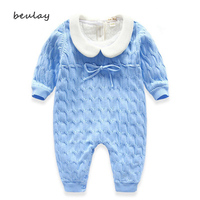 Winter Baby Clothes Cotton Boys Coat Girls Warm Clothes Children's Onesies Solid Color Lapel Clothing Bebe Set