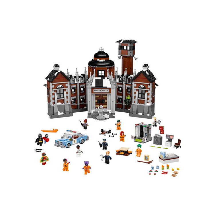 07055 1743pcs Arkham Asylum Genuine Batman Movie Series Building Blocks Bricks Children's Christmas gift Compatible With <font><b>70912</b></font> image