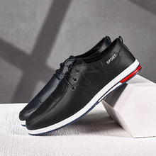 Leather Walking Shoes Men Lightweight Breathable Casual Sports Shoes Male Comfortable Sneakers Zapatillas Hombre Driving Shoes li ning men s heather classic walking shoes lightweight breathable sports sneakers brand lining shoes agcm041