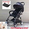 Cochecito de bebé elegante luz plegable amortiguador carrito cochecito de bebé para viajes adecuado 4 estaciones chico