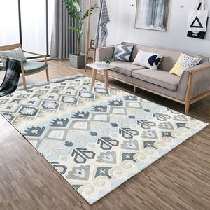 Image 2 - Tapis nordique moderne, pour salon, imprimé en 3d, géométrique, antidérapant, antisalissure, pour sol, fournitures en usine