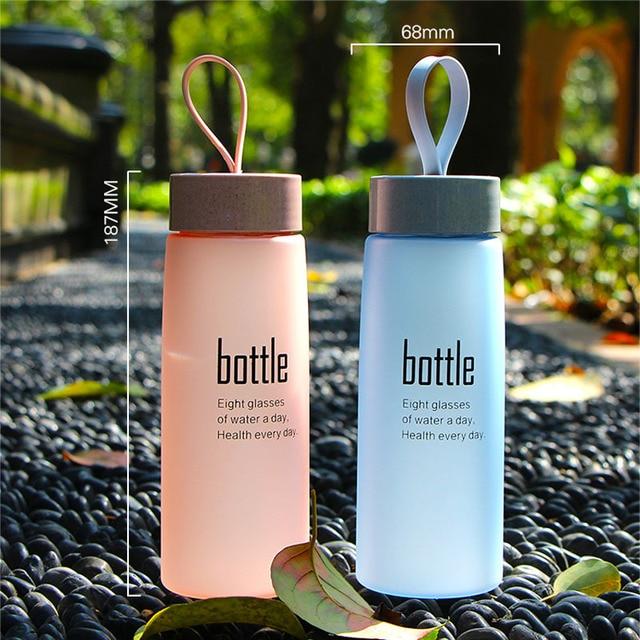 BPA Free Water Bottle Plastic Sport Scrub Leak Proof Drinking My Bottle Portable Fashion Drinkware Tour Bottles for Lovers H1094 6