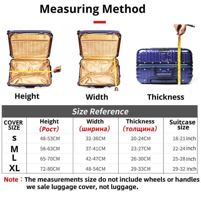 אירופאי אטרקציות עבה נסיעות אביזרי מטען אלסטיות אבק כיסוי להחיל כדי 18 ''-32'' מזוודת כיסוי מקרה מזוודות xt910