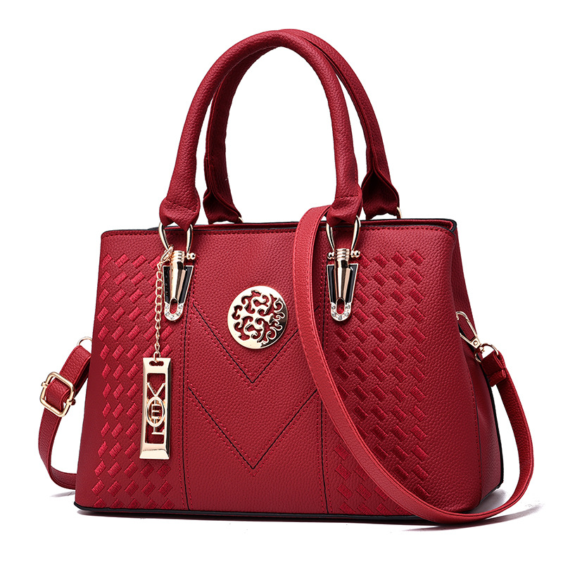 Embroidery Messenger Bags Women Leather Handbags Bags for Women 2019 Sac a Main Ladies Hand Bag Female bag new 2