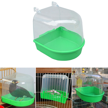 1 sztuk oczko wodne wanna papuga dostaw kąpieli oczko wodne wanna klatka artykuły dla zwierząt oczko wodne prysznic stojący Bin Wash Space tanie i dobre opinie CN (pochodzenie) Z tworzywa sztucznego Ptaki
